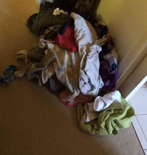 washing on floor